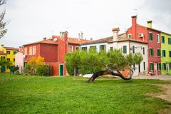 Venice landmark, Burano island Royalty Free Stock Photo