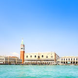 Venice landmark, Piazza San Marco with Campanile and Doge Palace. Italy Royalty Free Stock Photography