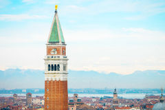 Venice landmark, st.mark companile, Italy Royalty Free Stock Photography