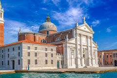 Venice landmark, view from sea of Piazza San Marco or st Mark square, Campanile and Ducale or Doge Palace. Italy, Europe Royalty Free Stock Image
