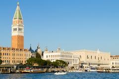 Venice landscape, Italian landmark. Venetian buildings stock photo
