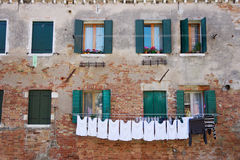 Venice laundry Royalty Free Stock Photo