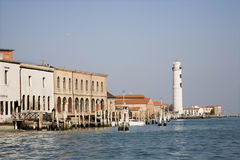 Venice - lighthouse on island Murano Royalty Free Stock Images