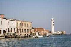 Venice - lighthouse on island Murano. Venice - lighthouse on island San Murano royalty free stock images