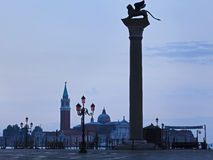 Venice Lion Column Rise Royalty Free Stock Images