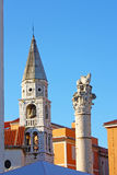 Venice lion and steeple Stock Photo