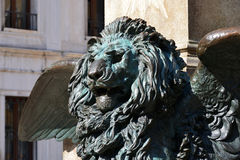 Venice Lion. The winged lion symbol of the Serenissima republic of Venice Royalty Free Stock Photos