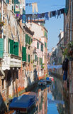 Venice - Look form bridge Ponte dei Scudi bridge Royalty Free Stock Images