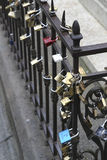 Venice love padlocks Stock Photography