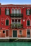 Venice: lovely 15th Century red palace Royalty Free Stock Images