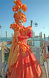 Venice - Luxury mask from carnival on the waterfront of Piazza San Marco square. Stock Photo