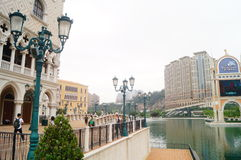 Venice Macao resort Scenic Area Stock Images