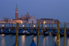 Venice Maggiore Dusk. Island Monastery & cathedral in Venice at Dusk: Maggiore Royalty Free Stock Images