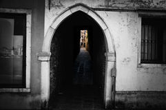 Venice magic. Venice,Italy. The magic door in Guidecca district of Venice Royalty Free Stock Photography