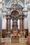 Venice - The main altar in church Santa Maria del Rosario (Chiesa dei Gesuati). Royalty Free Stock Photo
