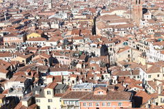 Venice, many houses seen from the campanile di san marco Stock Images