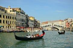 VENICE - March 28: Gondola at Royalty Free Stock Photos