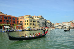 VENICE - March 28: Gondola at Royalty Free Stock Image