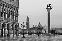 Venice Marco 2 Pier Maggiore BW Stock Photography