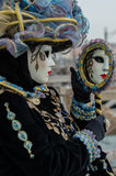 Venice Mask. Mask at the Venice Carnival 2013 Stock Images