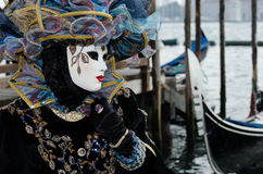 Venice Mask. Mask at the Venice Carnival 2013 Stock Photo
