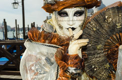 Venice Mask. Mask at the Venice Carnival 2013 Stock Photography