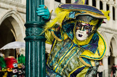 Venice Mask. Mask at the Venice Carnival 2013 Royalty Free Stock Photography
