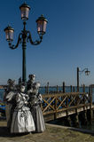 Venice Mask. Masked person at the Venice Carnival 2013 Royalty Free Stock Photo