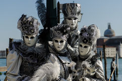Venice Mask. Masked person at the Venice Carnival 2013 Stock Photography