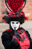 Venice Mask. Masked person at the Venice Carnival 2014 Royalty Free Stock Images