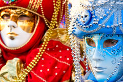 Venice Mask, Carnival. Two colorful mask in Venice Carnival, Italy