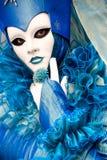 Venice Mask, Carnival. Beautiful blue mask in Venice, Italy