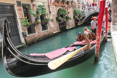 Venice mask. Venice and gondolas, Grand Canal and palaces, summer Stock Image