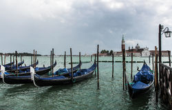 Venice mask. Venice and gondolas, Grand Canal and palaces, summer Royalty Free Stock Photo