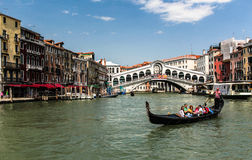 Venice mask. Venice and gondolas, Grand Canal and palaces, summer Royalty Free Stock Image
