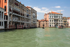 Venice mask. Venice and gondolas, Grand Canal and palaces, summer Royalty Free Stock Photos