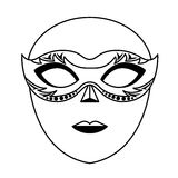 Venice mask icon Royalty Free Stock Image