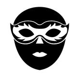 Venice mask icon Royalty Free Stock Images