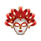 Venice mask isolated on white vector Royalty Free Stock Photo