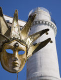 Venice - mask and lighthouse Royalty Free Stock Photos
