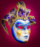 Venice mask on red background Stock Photos