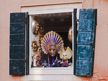 Venice Mask Window Royalty Free Stock Photography