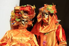 Venice masked performers Stock Image