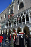Venice masked performers Royalty Free Stock Images