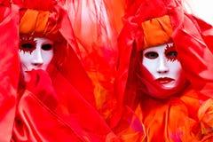 Venice Masks, Carnival. Two mask in Venice, Italy
