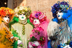 Venice Masks, Carnival. Focus on the right mask. Royalty Free Stock Photo