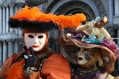 Venice. Masks of Venice carnival Italy stock images