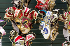 Venice Masks. Colorful Venice masks figures   for souvenir Royalty Free Stock Photo