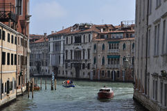 Venice. Medieval city in Italy. full of historic houses. famous by the palace of the Doge and the Marcus place Royalty Free Stock Images