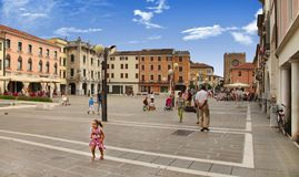 VENICE, MESTRE-June 29, 2014: Mestre on June 29, 2014. Piazza Er Stock Photography